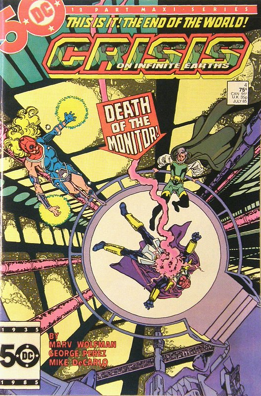 Cover of Crisis on Infinite Earths (1985 Ltd) #4. One of 250,000 Vintage American Comics on sale from Krypton!