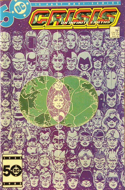 Cover of Crisis on Infinite Earths (1985 Ltd) #5. One of 250,000 Vintage American Comics on sale from Krypton!