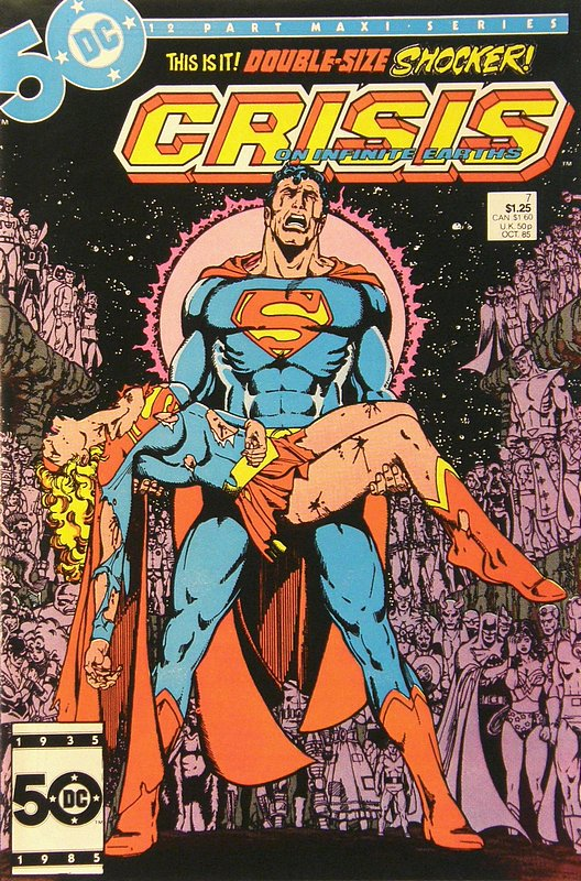Cover of Crisis on Infinite Earths (1985 Ltd) #7. One of 250,000 Vintage American Comics on sale from Krypton!
