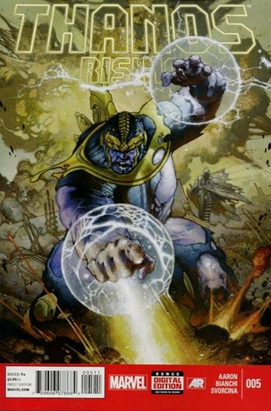 Cover of Thanos Rising (2013 Ltd) #5. One of 250,000 Vintage American Comics on sale from Krypton!