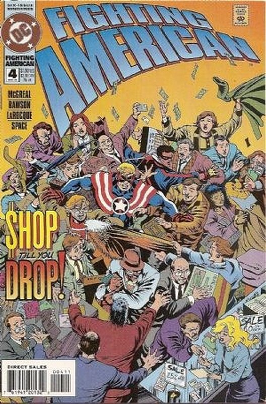 Cover of Fighting American (1994 Ltd) #4. One of 250,000 Vintage American Comics on sale from Krypton!