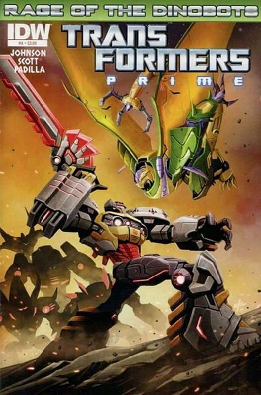 Cover of Transformers Prime: Rage of the Dinobots (Ltd) #4. One of 250,000 Vintage American Comics on sale from Krypton!