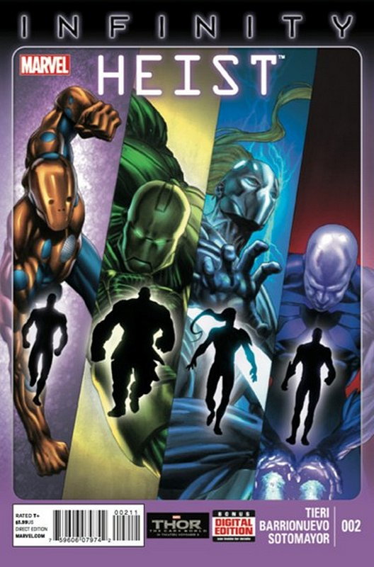 Cover of Infinity Heist (2013 Ltd) #2. One of 250,000 Vintage American Comics on sale from Krypton!