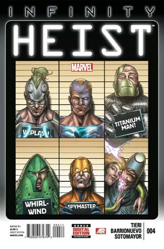 Cover of Infinity Heist (2013 Ltd) #4. One of 250,000 Vintage American Comics on sale from Krypton!
