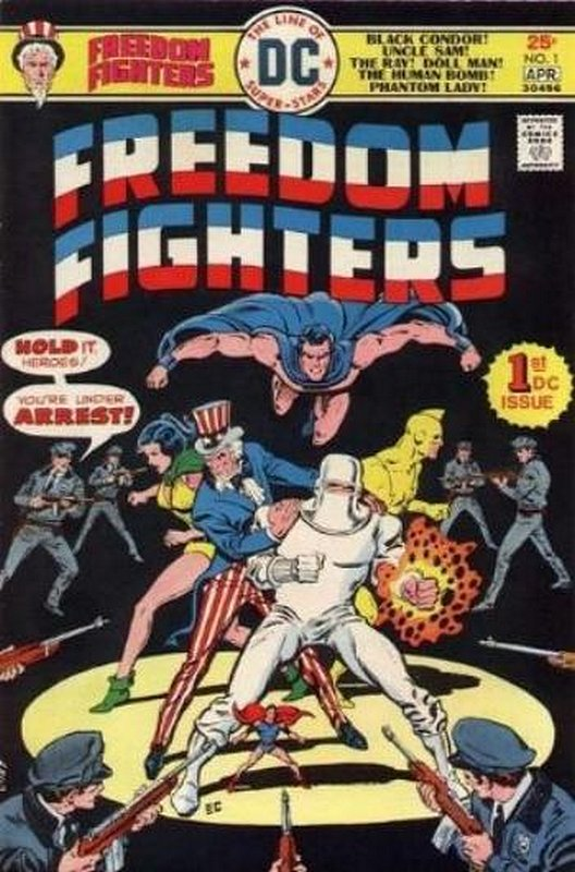 Cover of Freedom Fighters (Vol 1) #1. One of 250,000 Vintage American Comics on sale from Krypton!