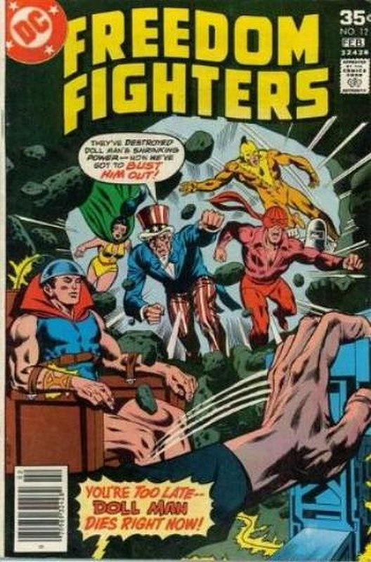 Cover of Freedom Fighters (Vol 1) #12. One of 250,000 Vintage American Comics on sale from Krypton!