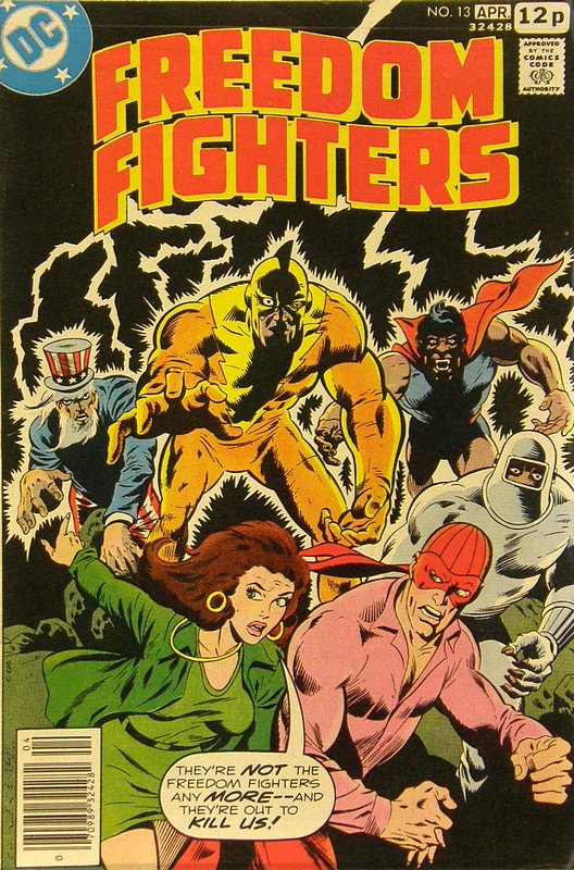 Cover of Freedom Fighters (Vol 1) #13. One of 250,000 Vintage American Comics on sale from Krypton!