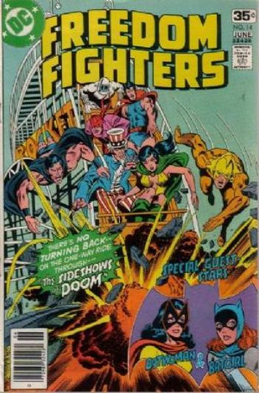 Cover of Freedom Fighters (Vol 1) #14. One of 250,000 Vintage American Comics on sale from Krypton!