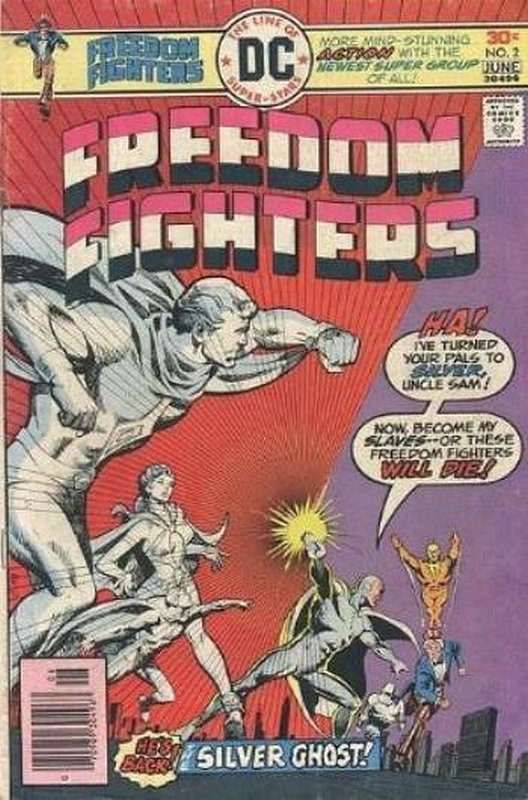 Cover of Freedom Fighters (Vol 1) #2. One of 250,000 Vintage American Comics on sale from Krypton!