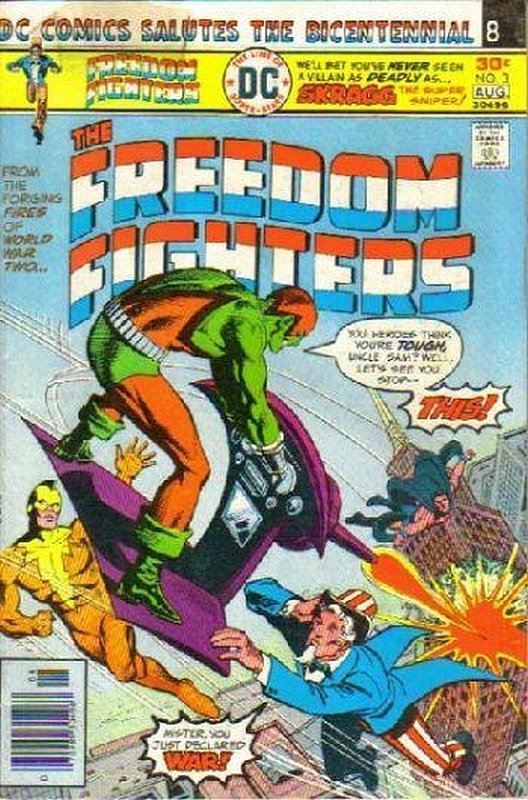Cover of Freedom Fighters (Vol 1) #3. One of 250,000 Vintage American Comics on sale from Krypton!