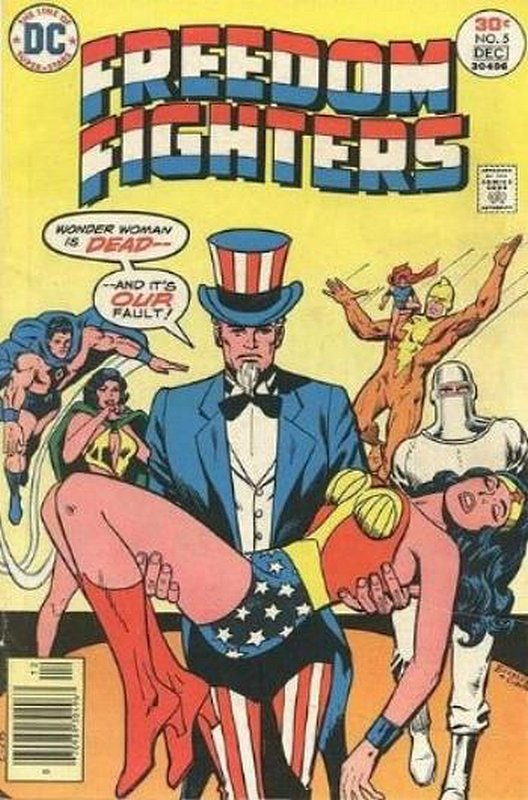 Cover of Freedom Fighters (Vol 1) #5. One of 250,000 Vintage American Comics on sale from Krypton!