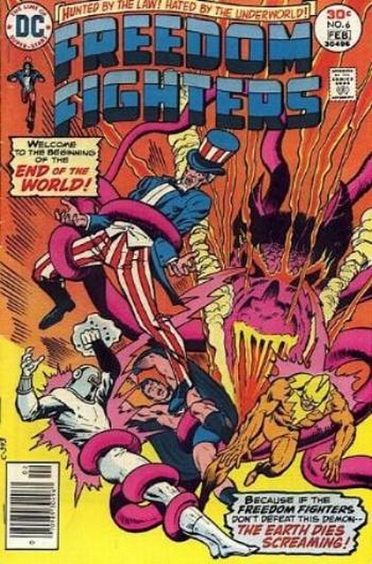 Cover of Freedom Fighters (Vol 1) #6. One of 250,000 Vintage American Comics on sale from Krypton!