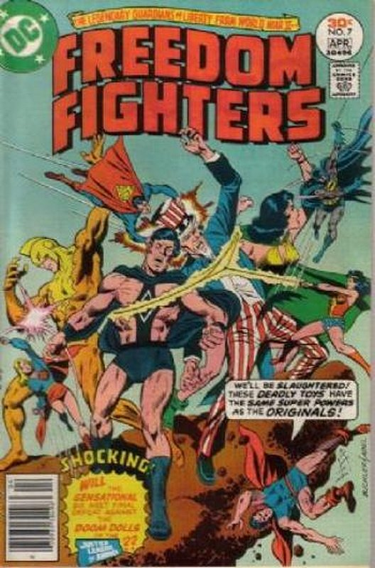 Cover of Freedom Fighters (Vol 1) #7. One of 250,000 Vintage American Comics on sale from Krypton!