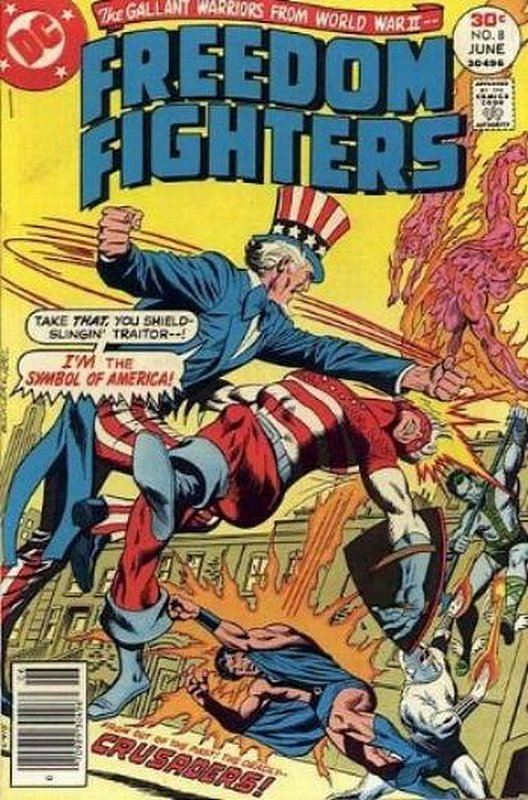 Cover of Freedom Fighters (Vol 1) #8. One of 250,000 Vintage American Comics on sale from Krypton!