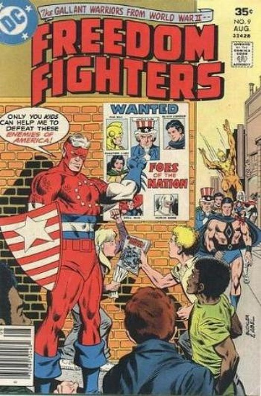 Cover of Freedom Fighters (Vol 1) #9. One of 250,000 Vintage American Comics on sale from Krypton!