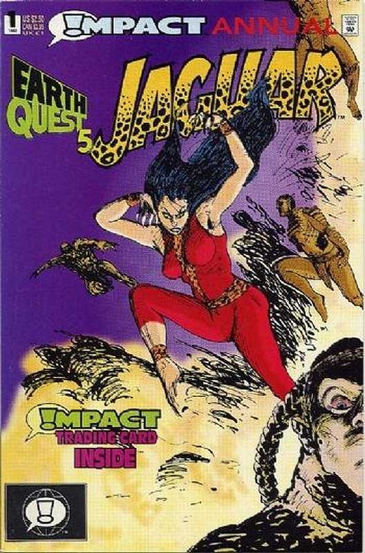 Cover of Jaguar Annual (Vol 1) (Impact) #1. One of 250,000 Vintage American Comics on sale from Krypton!