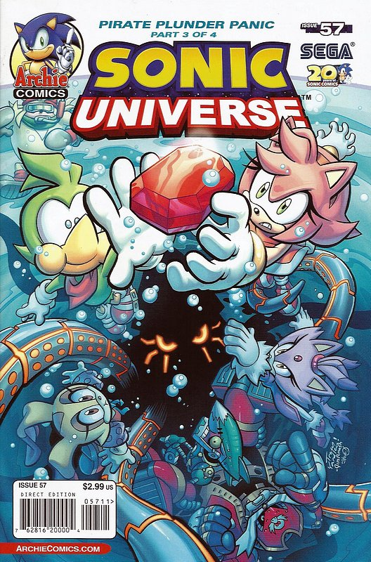 Cover of Sonic Universe (Vol 1) #57. One of 250,000 Vintage American Comics on sale from Krypton!