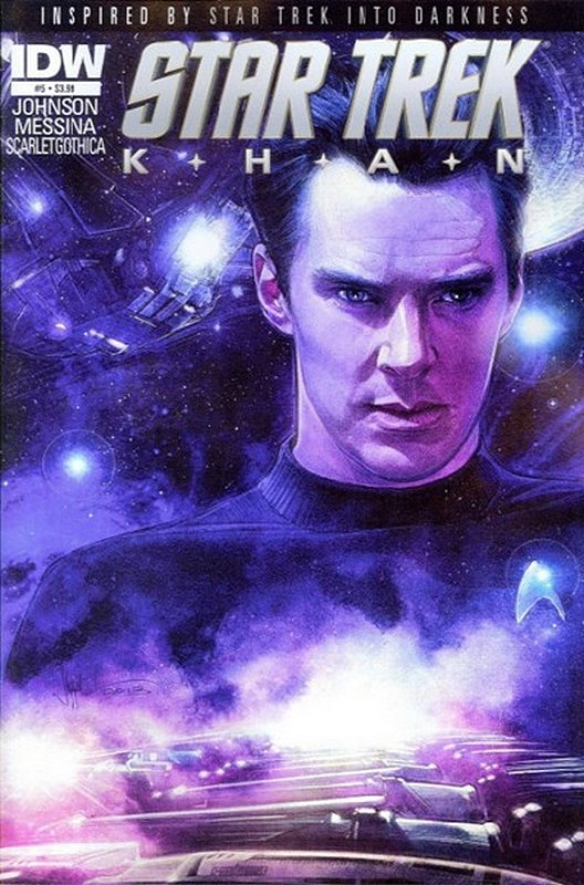 Cover of Star Trek: Khan (2013 Ltd) #5. One of 250,000 Vintage American Comics on sale from Krypton!