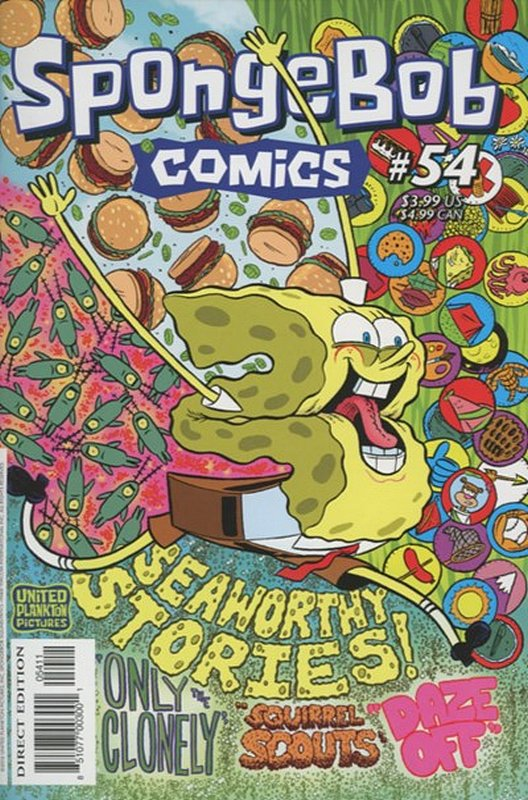 Cover of Spongebob Comics (Vol 1) #54. One of 250,000 Vintage American Comics on sale from Krypton!