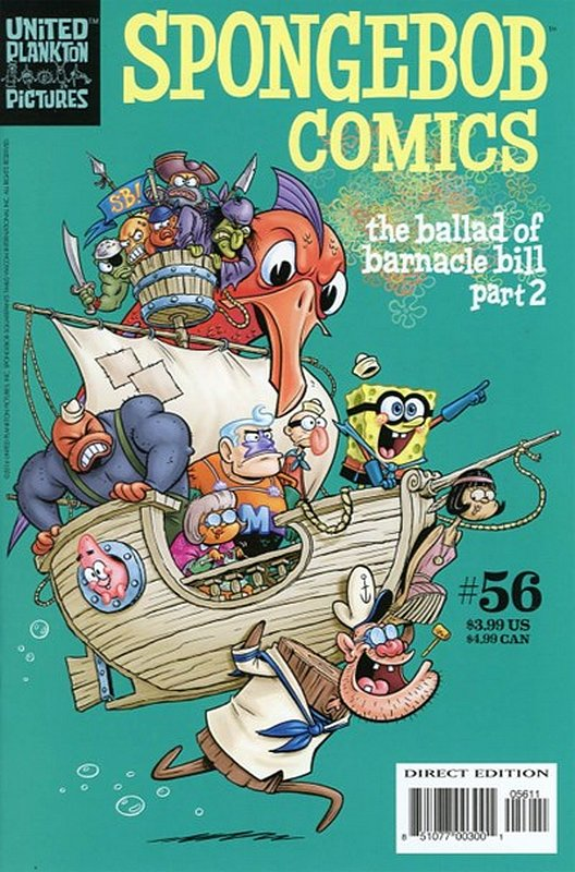Cover of Spongebob Comics (Vol 1) #56. One of 250,000 Vintage American Comics on sale from Krypton!
