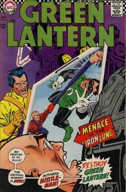 Cover of Green Lantern (Vol 2) #54. One of 250,000 Vintage American Comics on sale from Krypton!