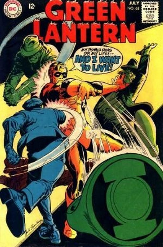 Cover of Green Lantern (Vol 2) #62. One of 250,000 Vintage American Comics on sale from Krypton!