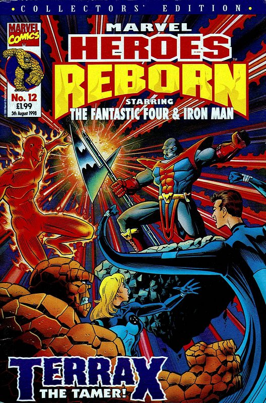 Cover of Marvel Heroes Reborn (Vol 1) (UK) #12. One of 250,000 Vintage American Comics on sale from Krypton!