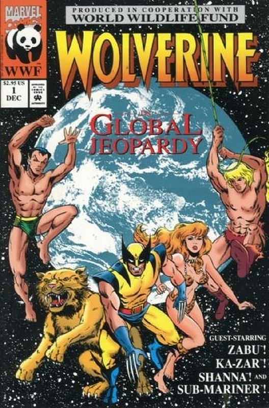 Cover of Wolverine: Global Jeopardy (1993 One Shot) #1. One of 250,000 Vintage American Comics on sale from Krypton!