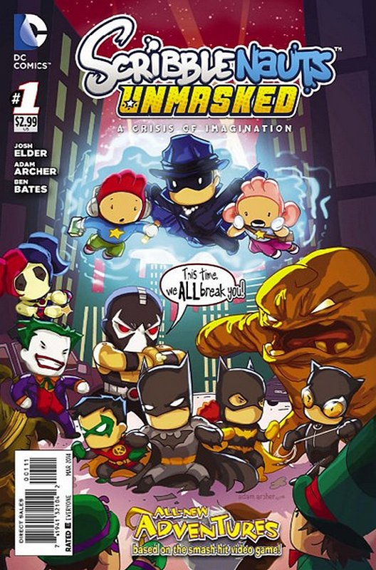 Cover of Scribblenauts Unmasked: A Crisis of Imagination #1. One of 250,000 Vintage American Comics on sale from Krypton!