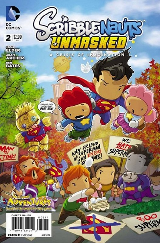 Cover of Scribblenauts Unmasked: A Crisis of Imagination #2. One of 250,000 Vintage American Comics on sale from Krypton!