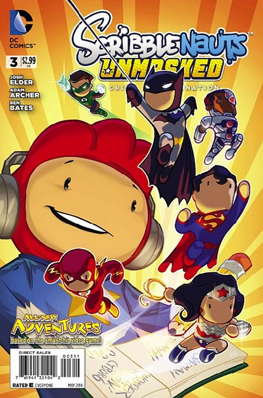 Cover of Scribblenauts Unmasked: A Crisis of Imagination #3. One of 250,000 Vintage American Comics on sale from Krypton!