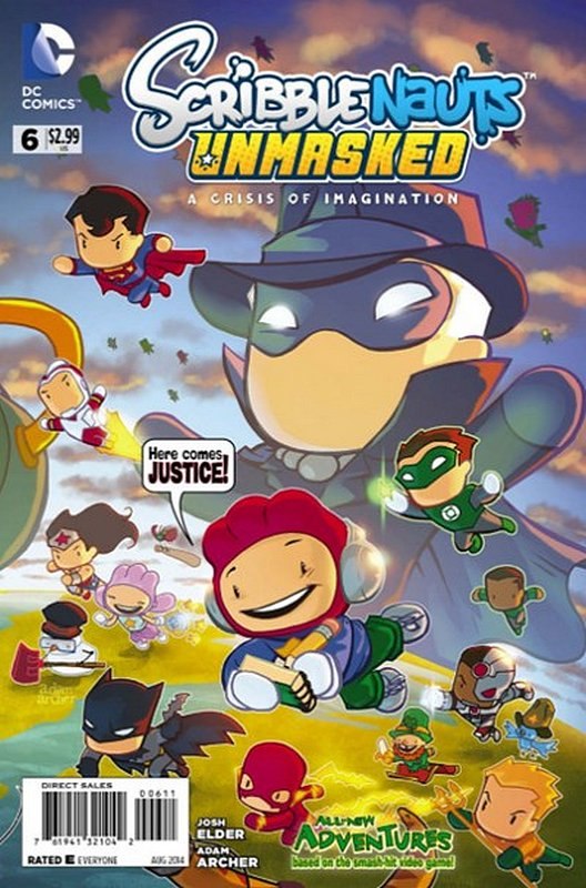 Cover of Scribblenauts Unmasked: A Crisis of Imagination #6. One of 250,000 Vintage American Comics on sale from Krypton!