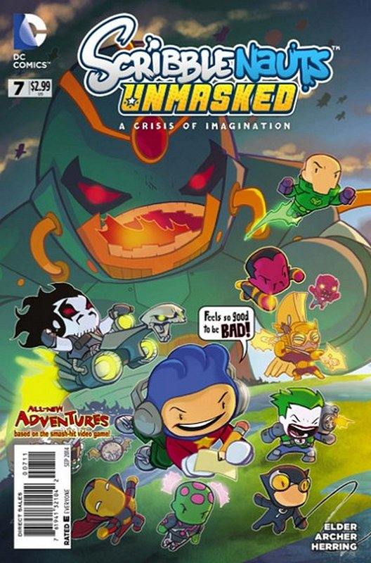 Cover of Scribblenauts Unmasked: A Crisis of Imagination #7. One of 250,000 Vintage American Comics on sale from Krypton!