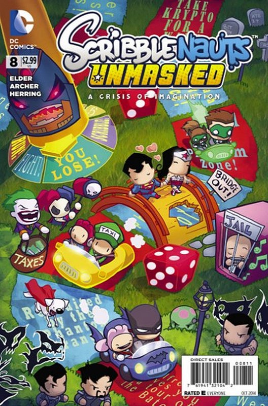 Cover of Scribblenauts Unmasked: A Crisis of Imagination #8. One of 250,000 Vintage American Comics on sale from Krypton!
