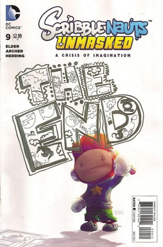 Cover of Scribblenauts Unmasked: A Crisis of Imagination #9. One of 250,000 Vintage American Comics on sale from Krypton!