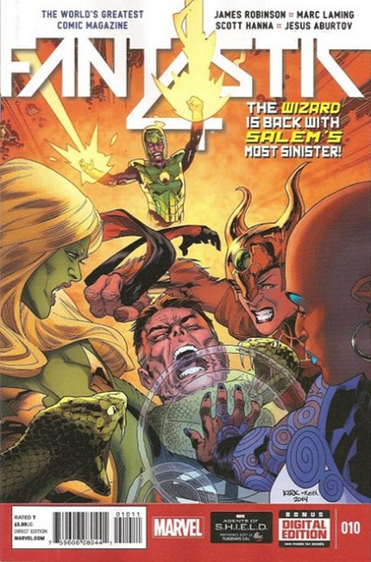 Cover of Fantastic Four (Vol 5) #10. One of 250,000 Vintage American Comics on sale from Krypton!