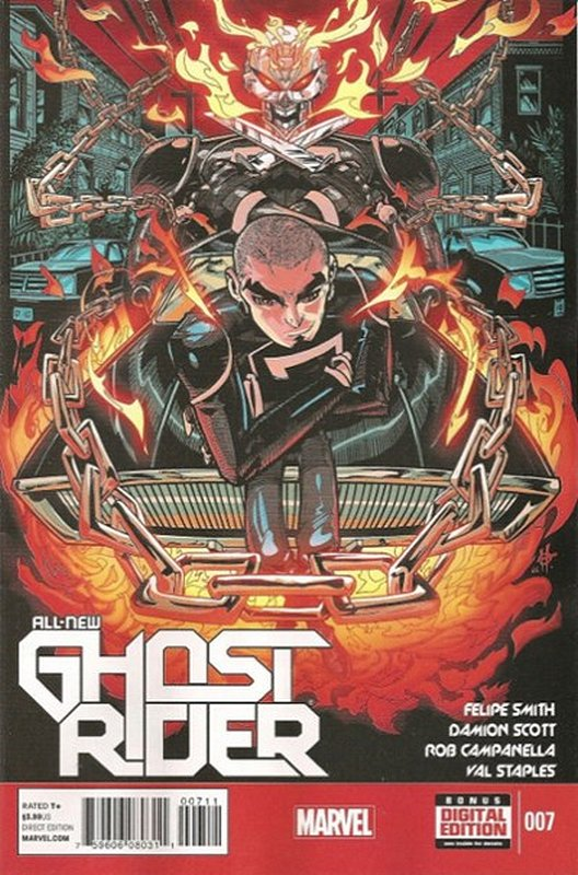 Cover of Ghost Rider (Vol 5) All-New #7. One of 250,000 Vintage American Comics on sale from Krypton!