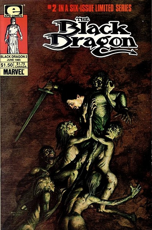 Cover of Black Dragon (1985 Ltd) #2. One of 250,000 Vintage American Comics on sale from Krypton!