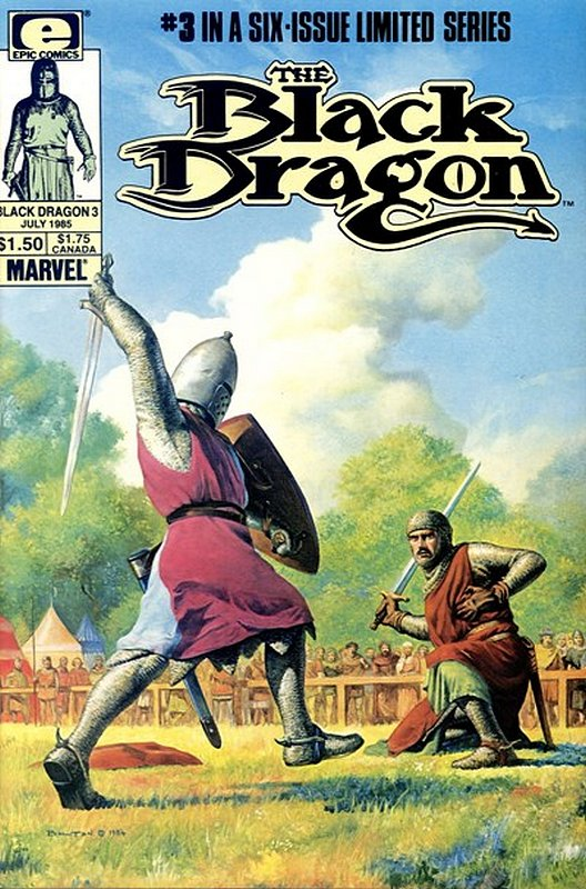 Cover of Black Dragon (1985 Ltd) #3. One of 250,000 Vintage American Comics on sale from Krypton!