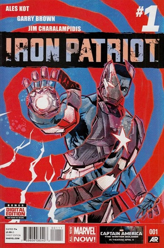 Cover of Iron Patriot (Vol 1) #1. One of 250,000 Vintage American Comics on sale from Krypton!