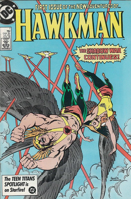 Cover of Hawkman (Vol 2) #1. One of 250,000 Vintage American Comics on sale from Krypton!