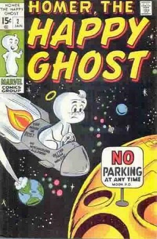 Cover of Homer (Vol 2) The Happy Ghost #2. One of 250,000 Vintage American Comics on sale from Krypton!