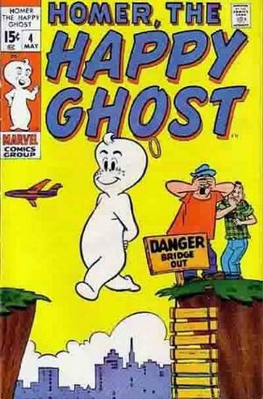 Cover of Homer (Vol 2) The Happy Ghost #4. One of 250,000 Vintage American Comics on sale from Krypton!