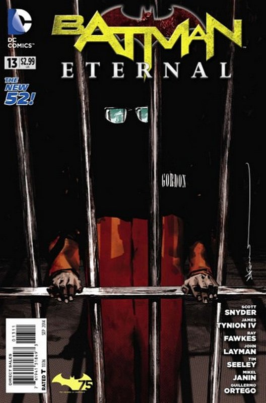 Cover of Batman: Eternal (Vol 1) #13. One of 250,000 Vintage American Comics on sale from Krypton!
