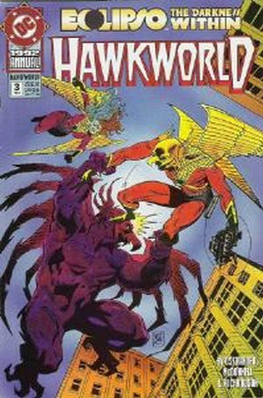 Cover of Hawkworld Annual (Vol 1) #3. One of 250,000 Vintage American Comics on sale from Krypton!
