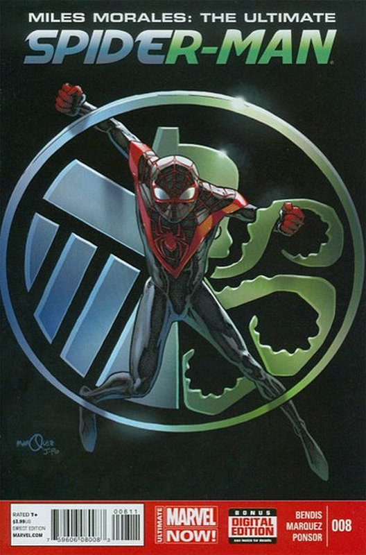 Cover of Miles Morales: Ultimate Spider-Man (Vol 1) #8. One of 250,000 Vintage American Comics on sale from Krypton!