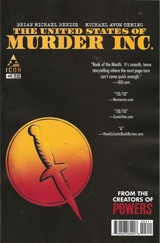 Cover of United States of Murder Inc. (2014 Ltd) #3. One of 250,000 Vintage American Comics on sale from Krypton!