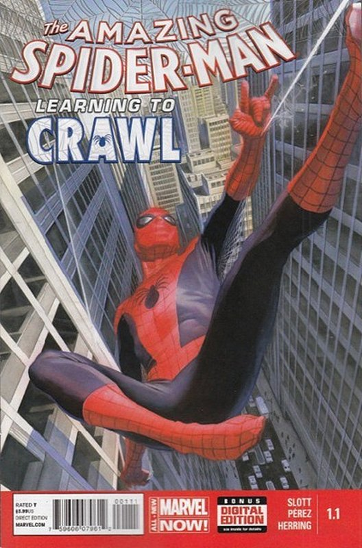 Cover of Amazing Spider-Man: Learning to Crawl (2014 Ltd) #1. One of 250,000 Vintage American Comics on sale from Krypton!