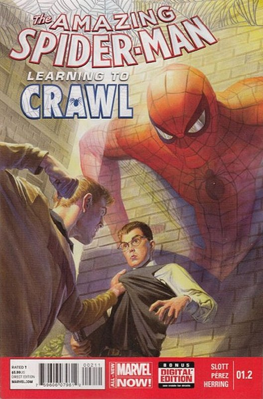 Cover of Amazing Spider-Man: Learning to Crawl (2014 Ltd) #2. One of 250,000 Vintage American Comics on sale from Krypton!