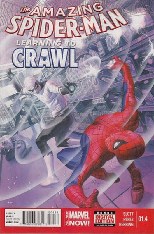 Cover of Amazing Spider-Man: Learning to Crawl (2014 Ltd) #4. One of 250,000 Vintage American Comics on sale from Krypton!